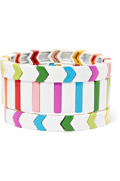 Fresh Start Set of Three Enamel Bracelets