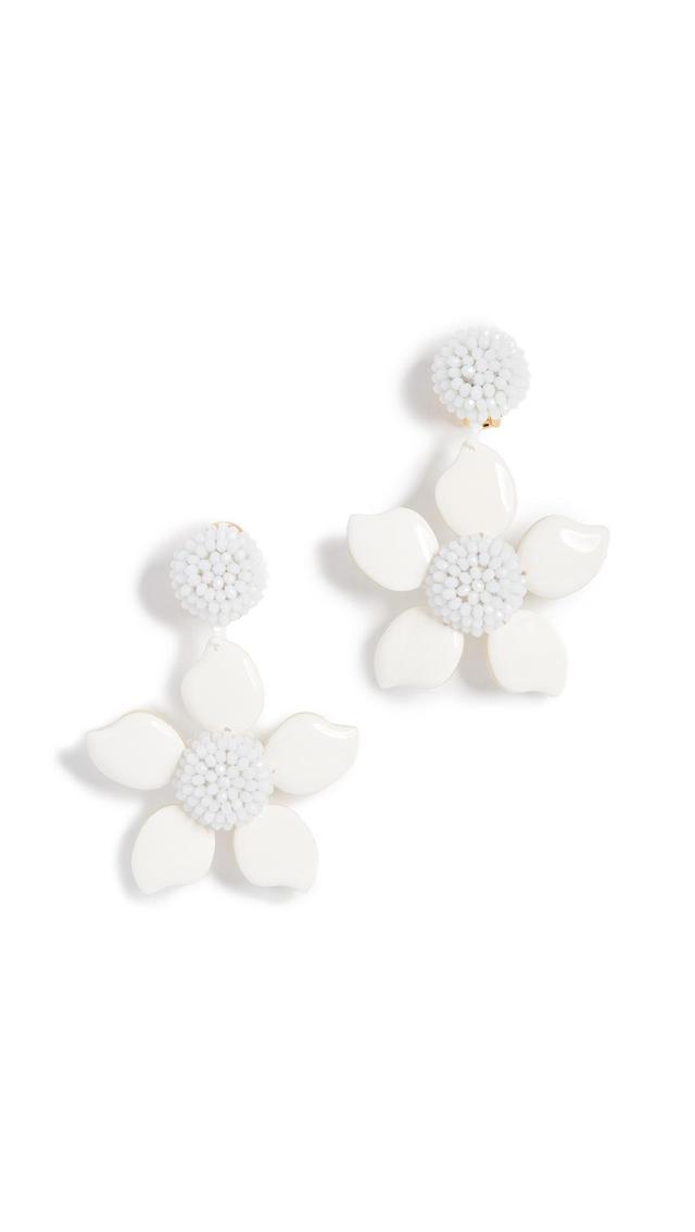 Bold Enamel Flower Earrings