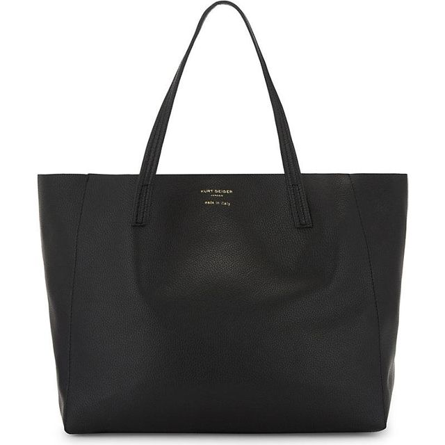 Violet Horizontal leather tote