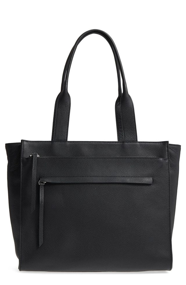 Finn Pebbled Leather Tote -