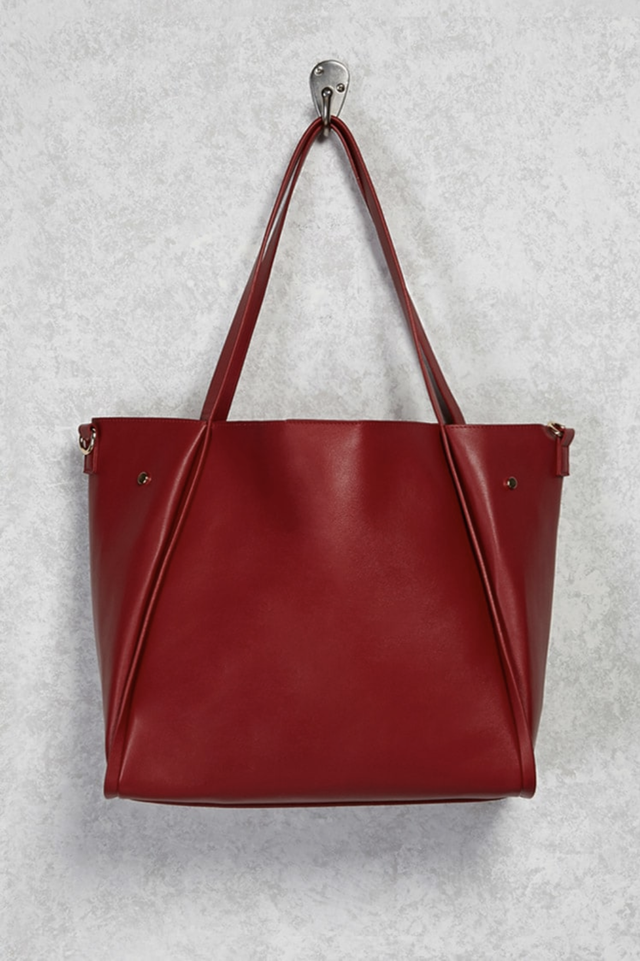 Forever 21 Faux Leather Tote Bag