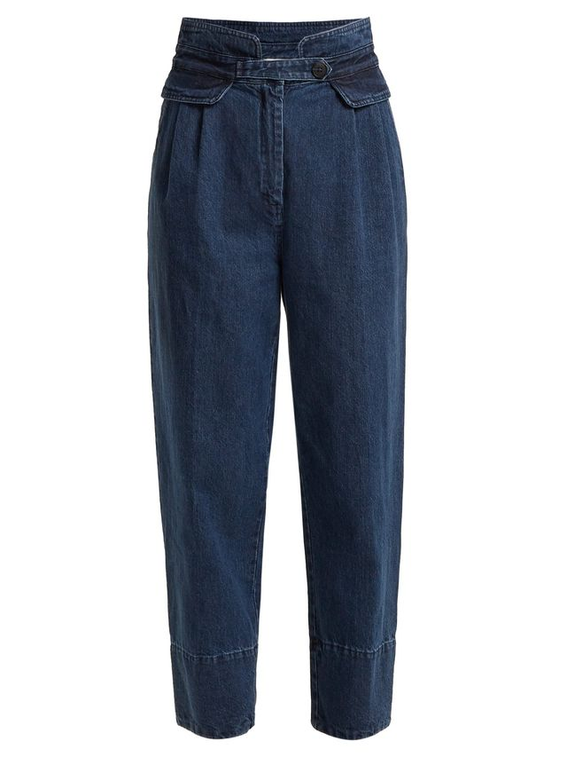 Sea High-Rise Straight-Leg Cropped Jeans