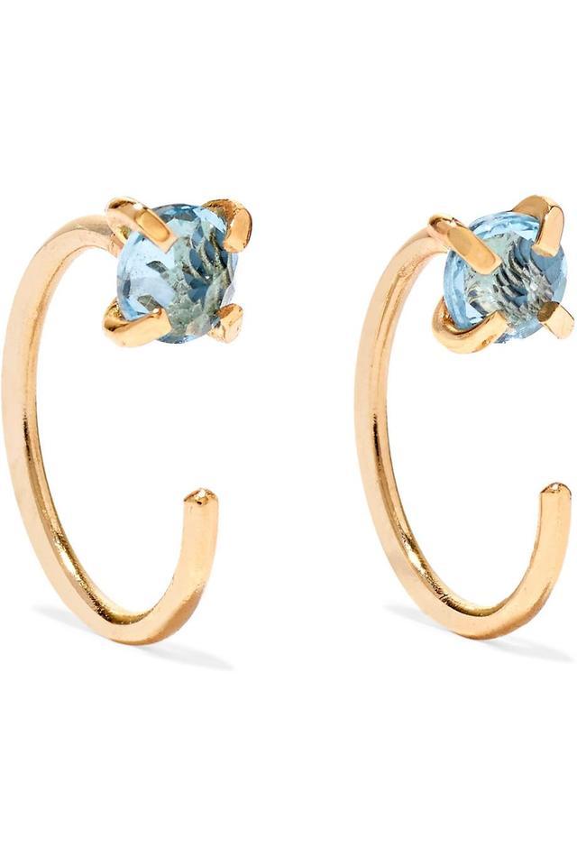14-karat Gold Topaz Earrings