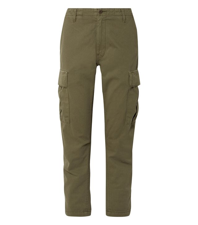 Cropped Cotton-twill Pants
