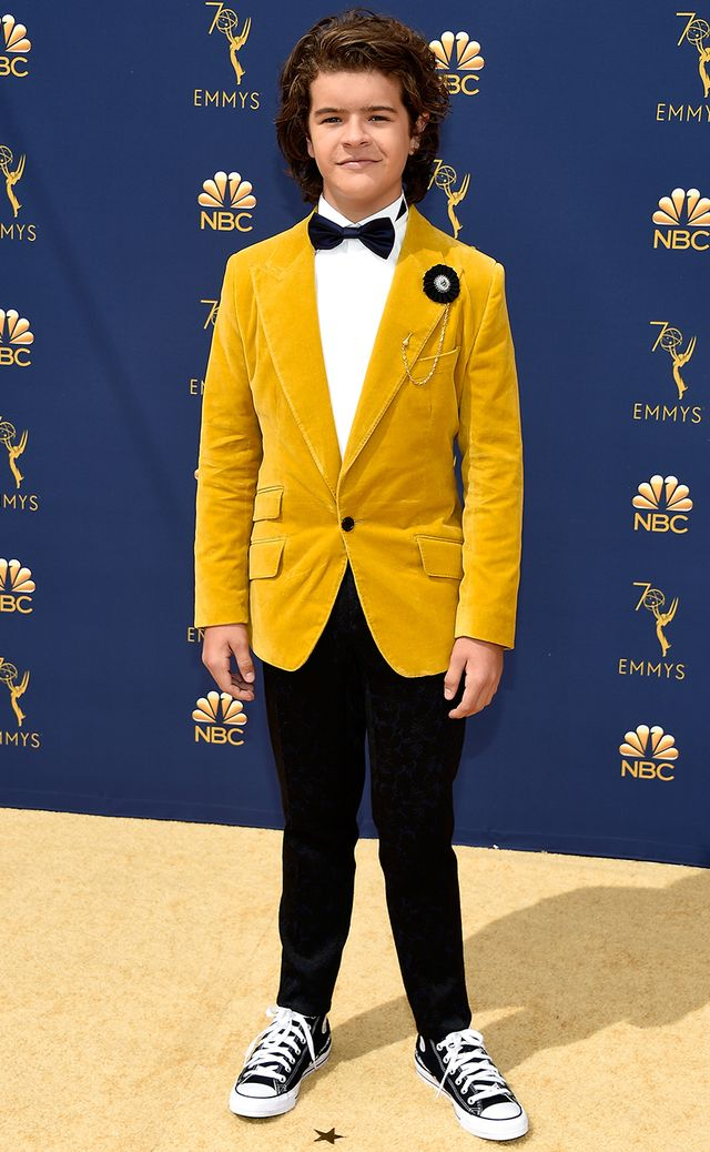 Most Stylish Boys at the Emmys 2018—Gaten Matarazzo