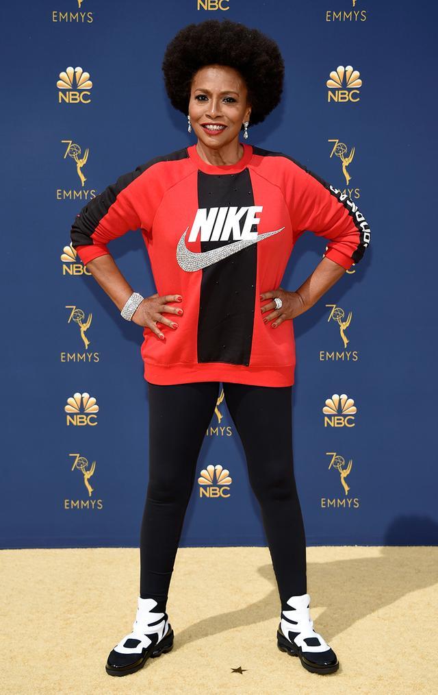 Most Stylish Boys at the Emmys 2018—Jenifer Lewis wearing custom Nike
