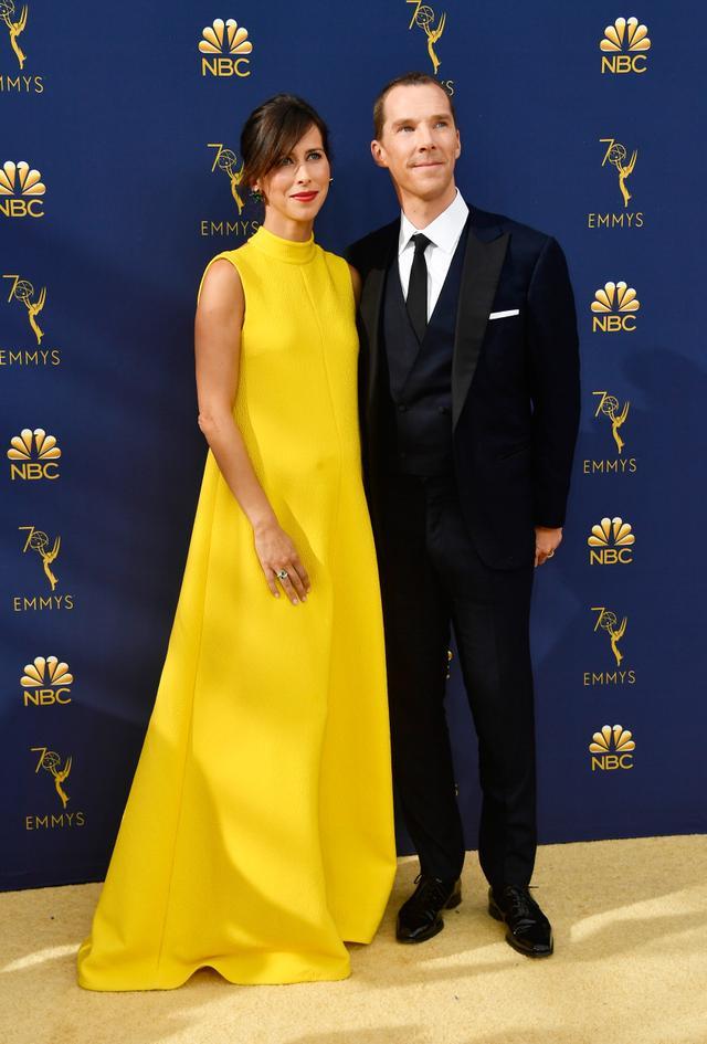 Sophie Hunter on the Emmys red carpet