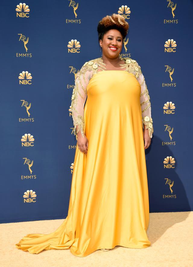 Ashley Nicole Black Emmy Awards red carpet