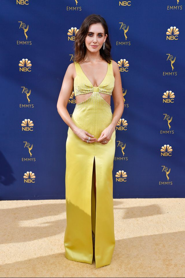 Alison Brie on the Emmys red carpet