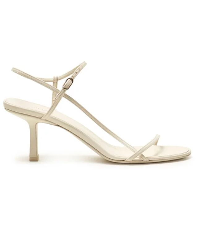 The Row nude strappy sandals: