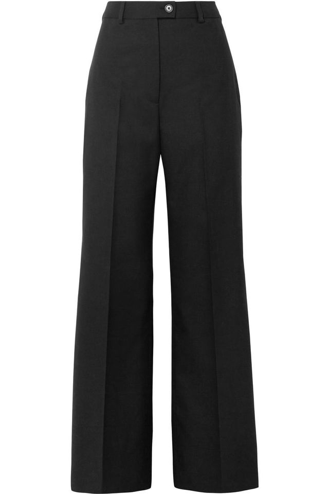 Modern Wool Wide-leg Pants