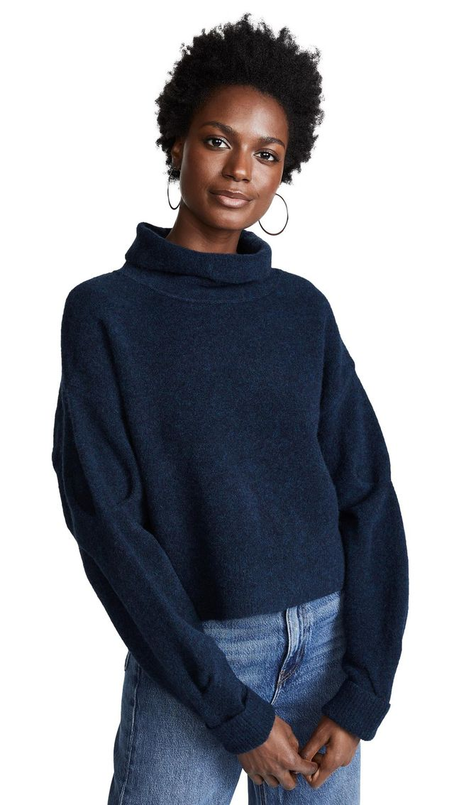 Chunky Cropped Wool Sweater