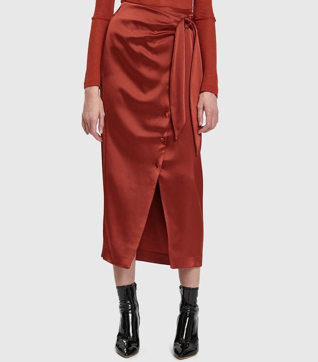 Nanushka Aries Satin Skirt