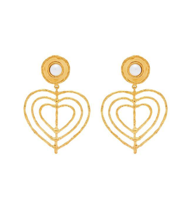 Valentine Heart Clip On Earrings