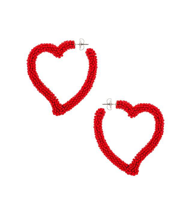 Sachin & Babi Heart Hoop Earrings