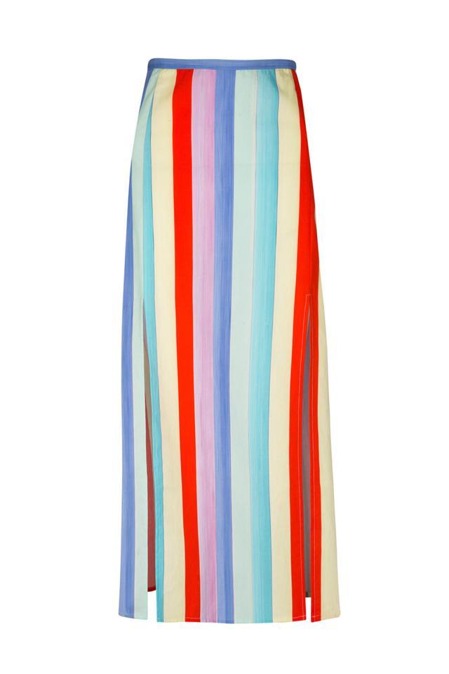 Rixo London Thalia Midi Skirt with Slit
