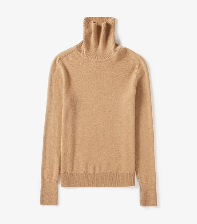 Women's The Cashmere Turtleneck Sweater by Everlane in Camel, Size S