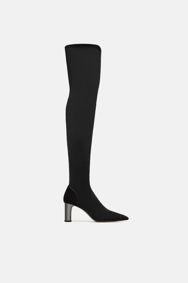 Zara Heeled Fabric Boots
