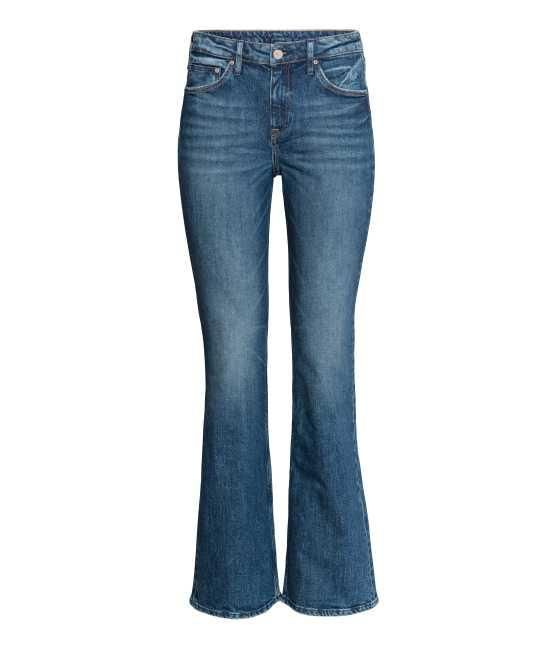 - Boot cut Regular Jeans - Dark denim blue - Women