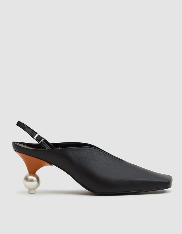Slingback with Pearl Heel