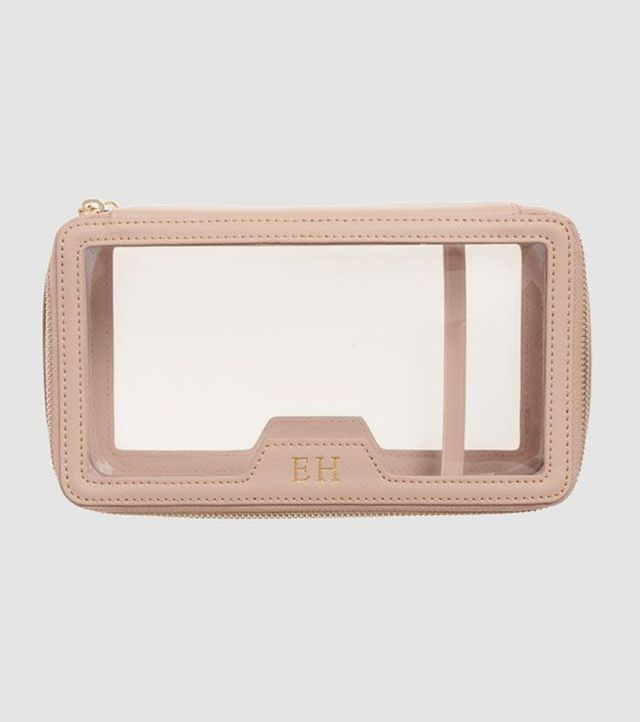 The Daily Edited Taupe Transparent Cosmetic Case