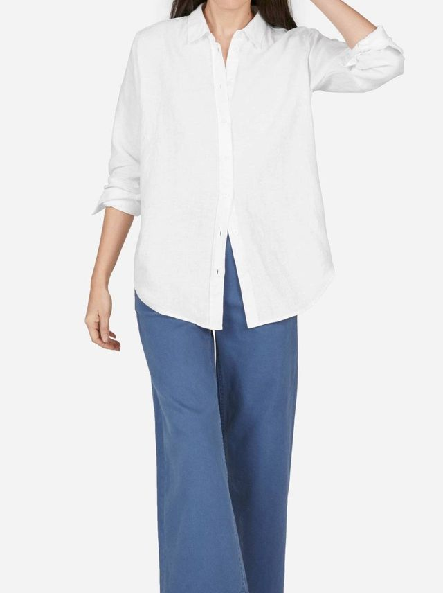 Linen Relaxed Shirt by Everlane in White