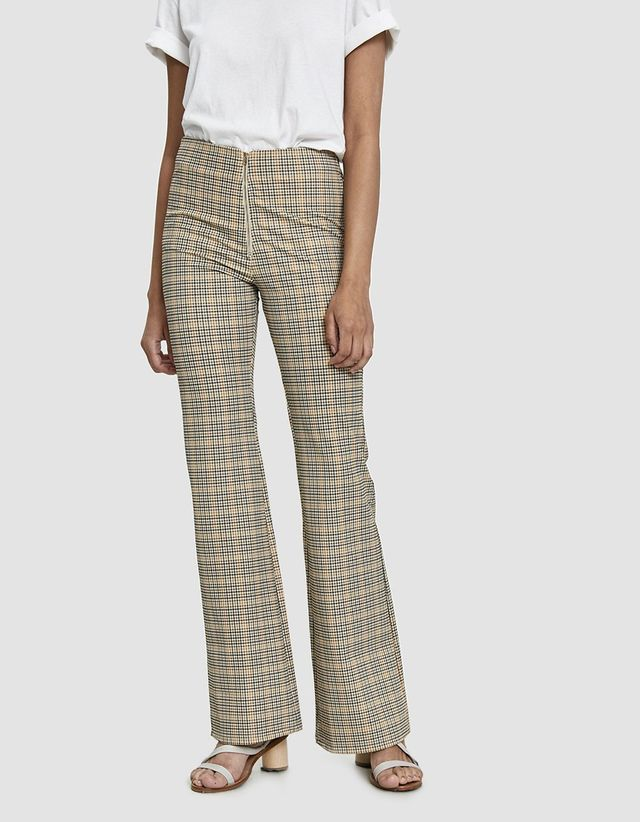 Signe Plaid Flare Pant