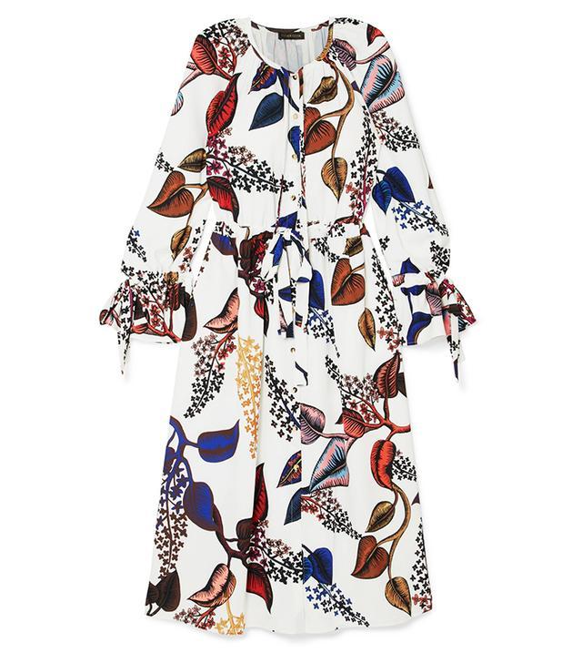 Jacques Floral-print Crepe Midi Dress