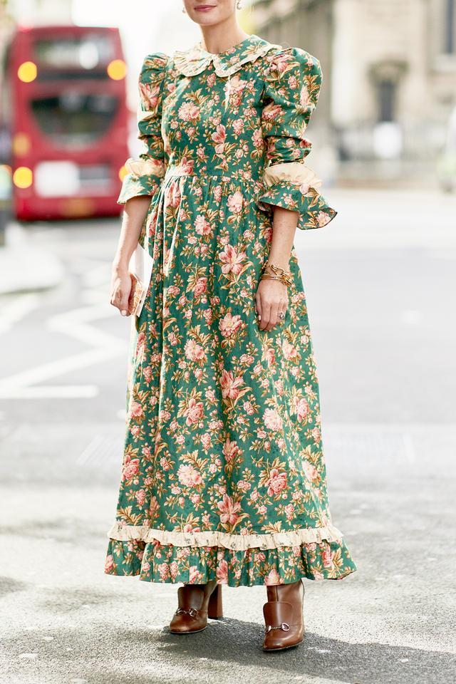 Street style outfits 2018: Batsheva dress