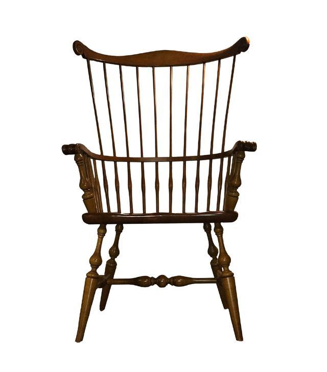 Ethan Allen Fan Back Windsor Maple & Pine Armchair