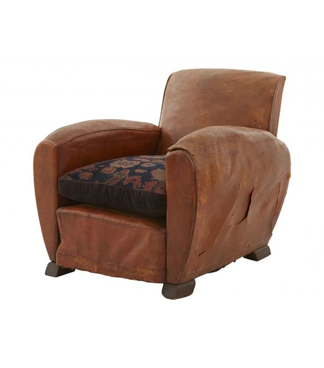 Jayson Home Antique Leather Club Chair