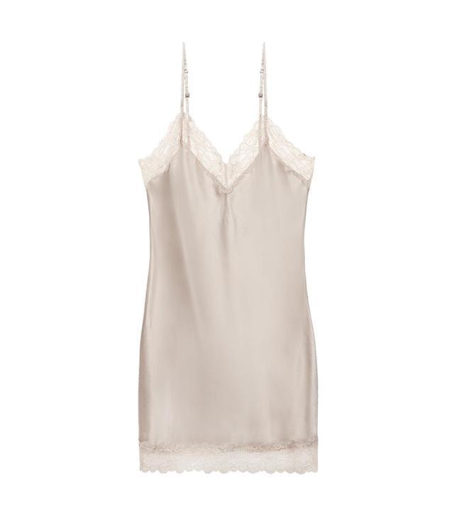 Intimissimi Silk Slip With Lace Insert