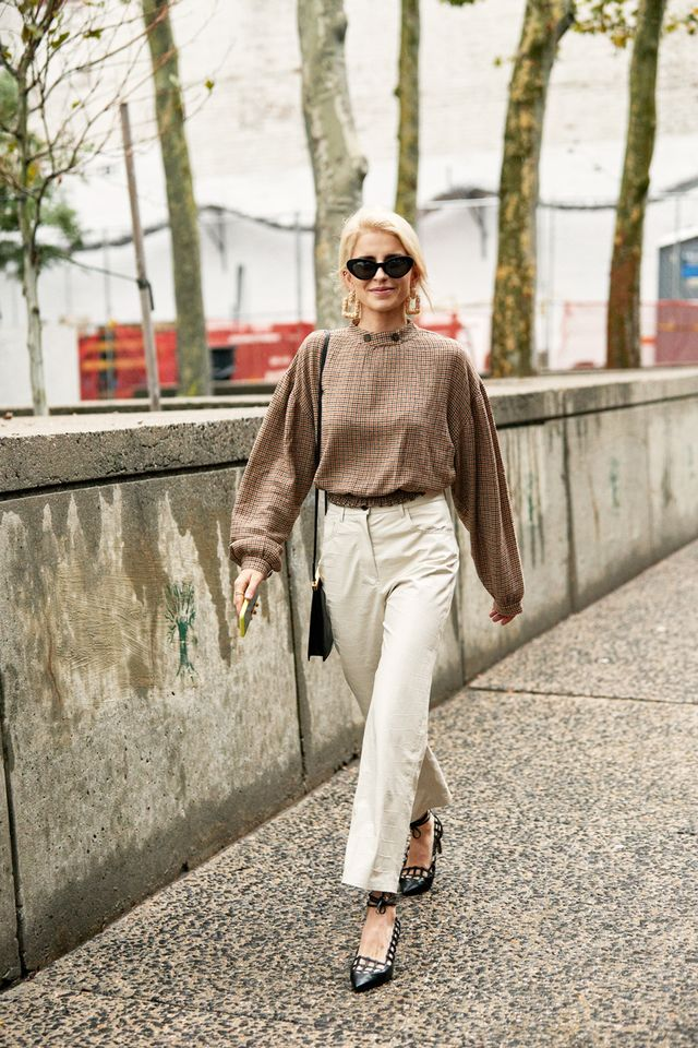 What to wear with poufy-sleeve tops