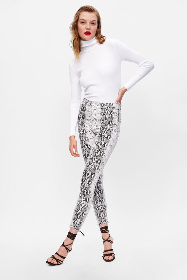 Zara Snake Print Jeans