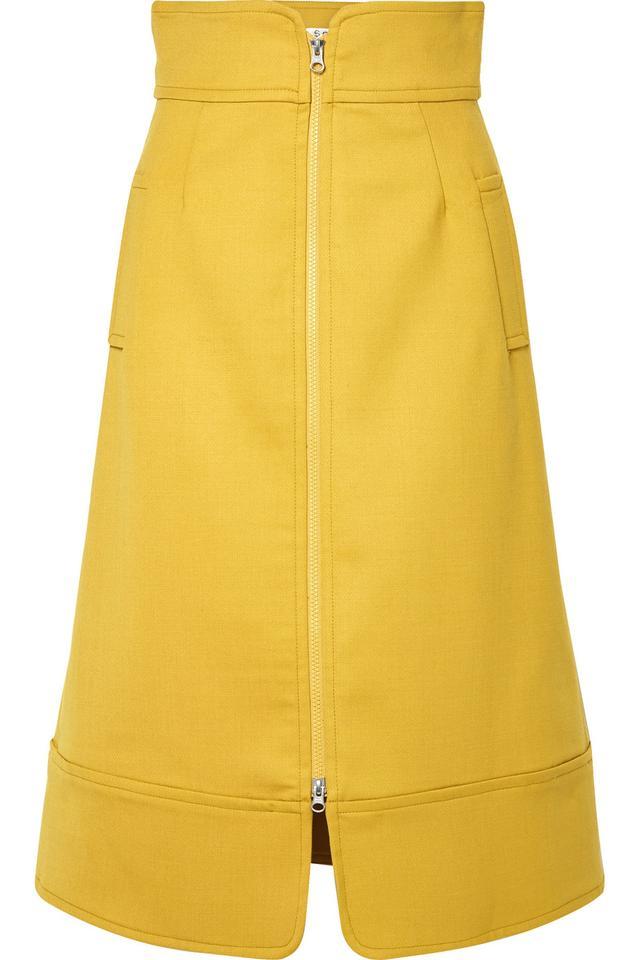 Crepe Midi Skirt