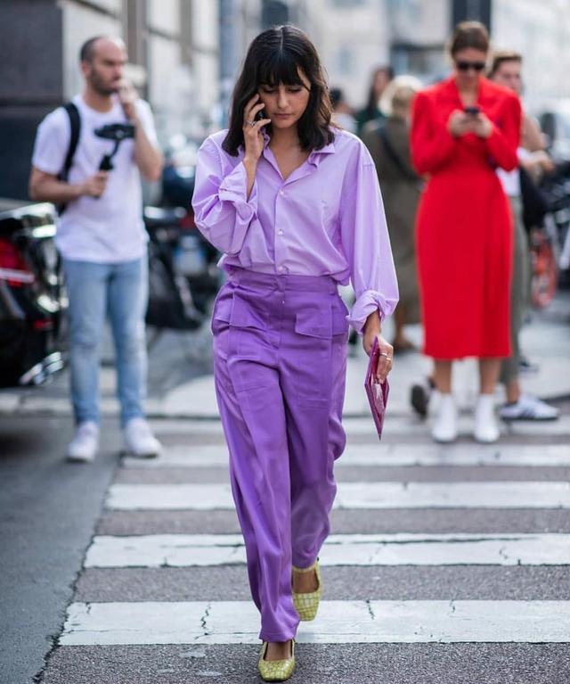 Milan street style: purple
