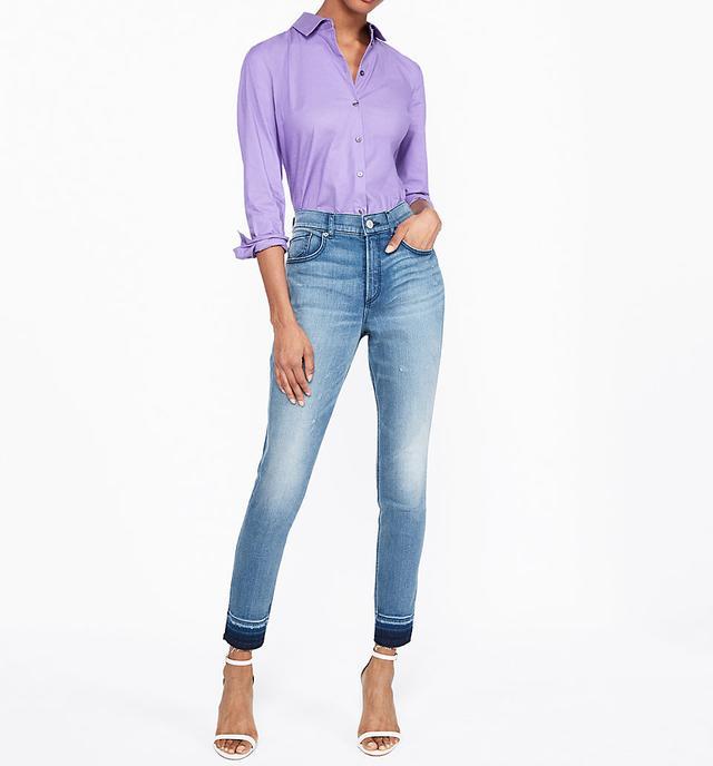 Slim Fit Long Sleeve Essential Shirt