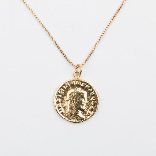 Yunis K Poseidon Greek Coin Necklace