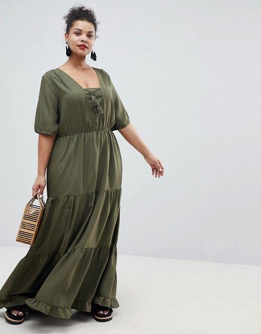Prairie Maxi Dress With Tassel Detail