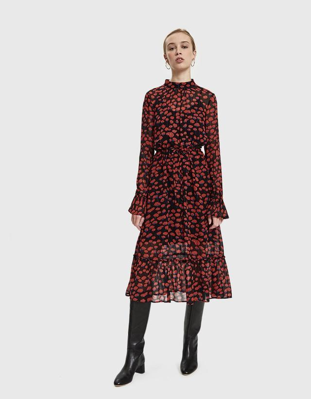 Poppy Floral Georgette Dress