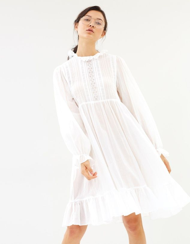 Matin Parati Lace Trim Dress