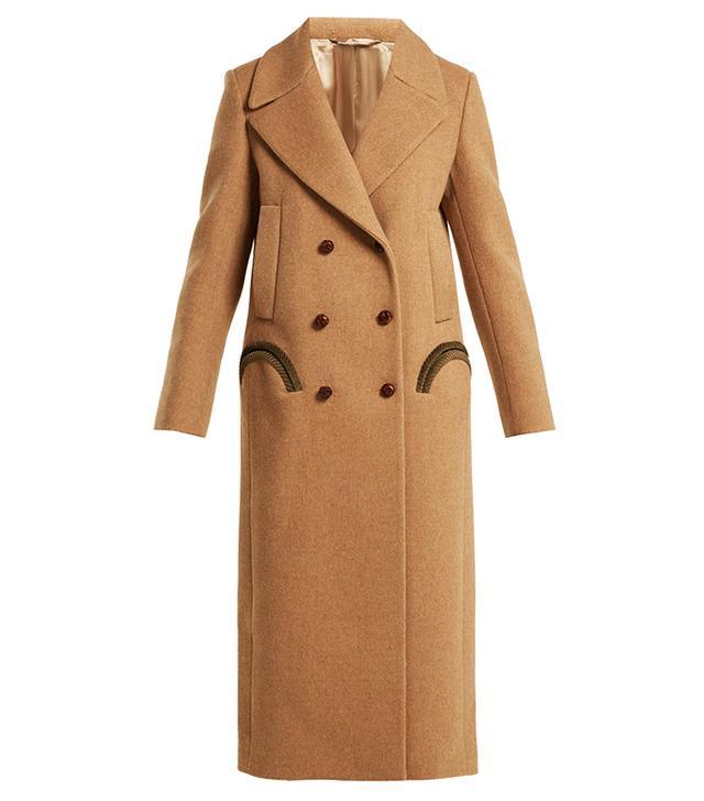 Blaze Milano Woodland Double-Breasted Wool Coat