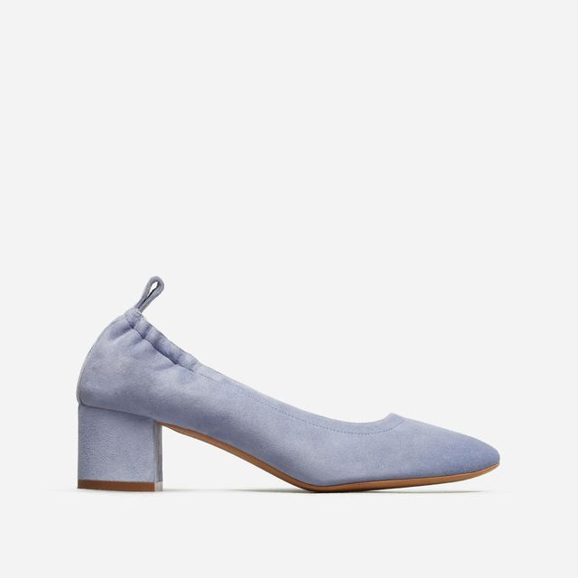 Women's Pump Heel by Everlane in Blue Suede, Size 11