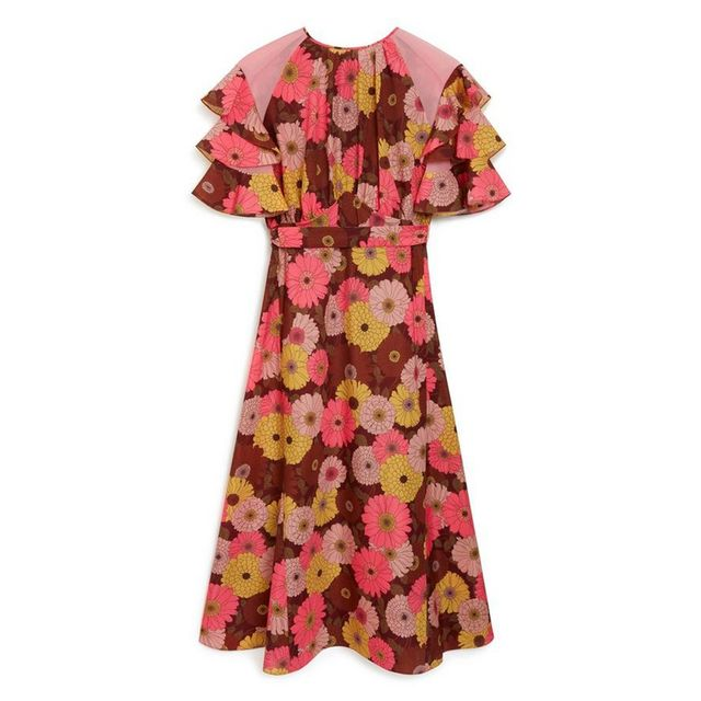 Mulberry Eimear Dress Bright Pink Daisies