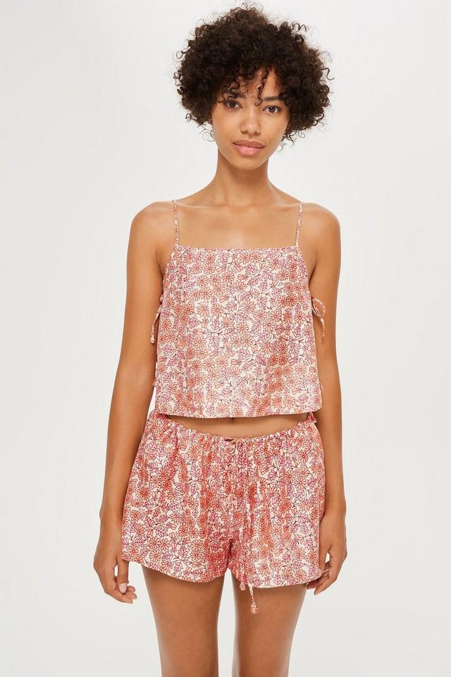 Topshop Floral Print Pyjama Co-Ord Set