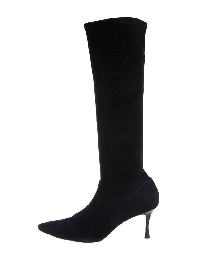 Manolo Blahnik Pascalare Suede Boots