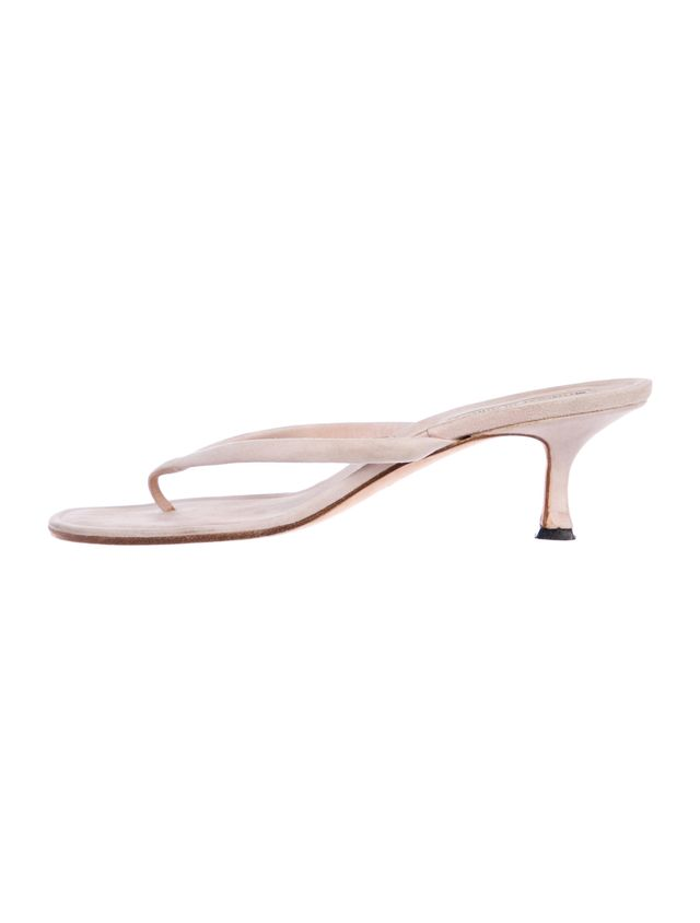 Manolo Blahnik Suede Thong Sandals