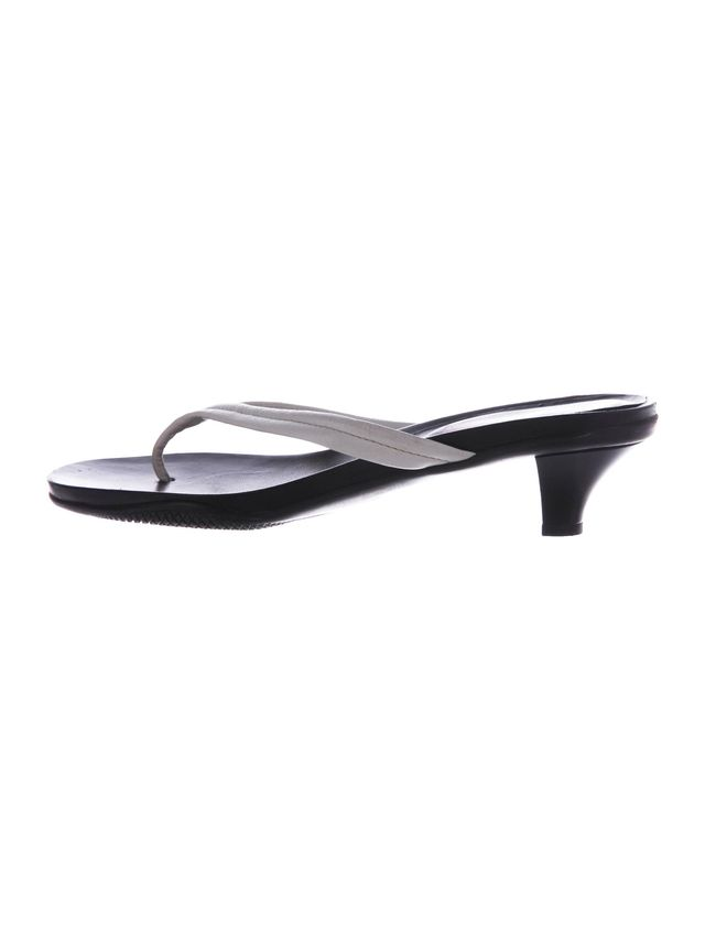 Prada Sport Leather Thong Sandals