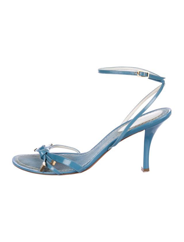 Louis Vuitton Patent Leather Ankle-Strap Sandals