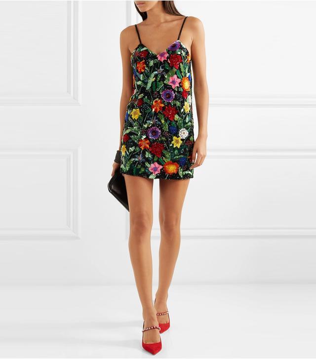 Sequined Silk-georgette Mini Dress